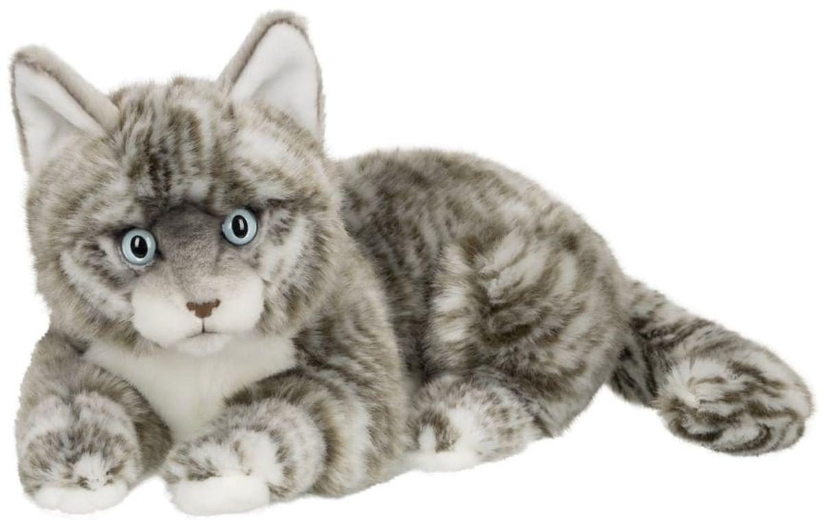 Anna Club Plush Кот Табби короткошерстный серебряный, лежит 25 см anna club plush мягкая игрушка бассет хаунд 18 см