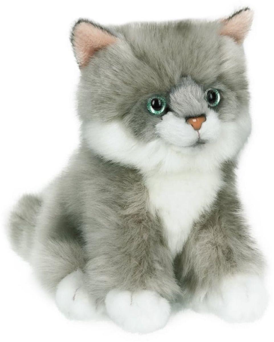 Anna Club Plush Котёнок сибирский серый, сидит 15 см anna club plush мягкая игрушка бассет хаунд 18 см