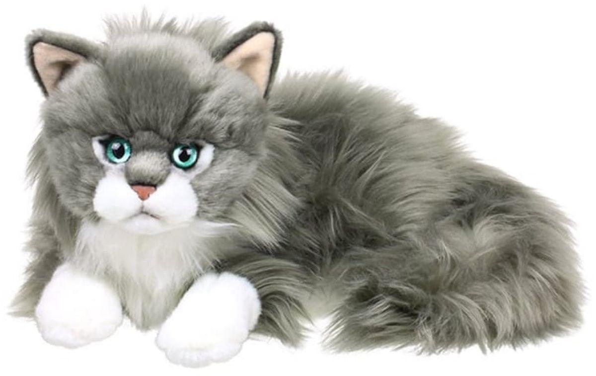 Anna Club Plush Кот сибирский серый, лежит 25 см anna club plush мягкая игрушка бассет хаунд 18 см