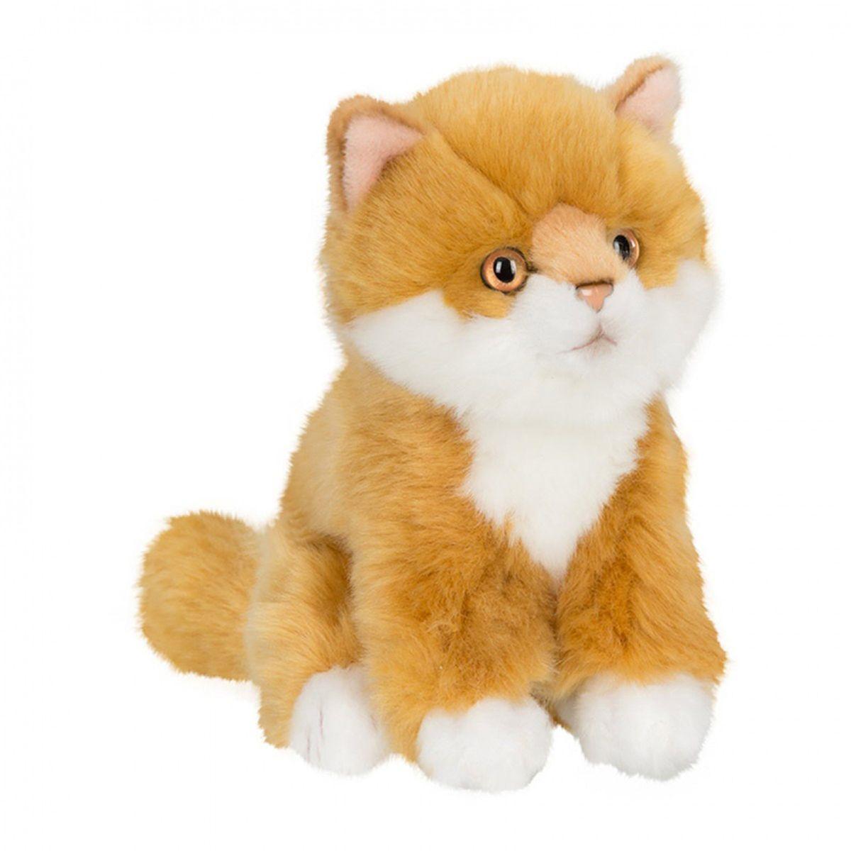 Anna Club Plush Котёнок сибирский рыжий, сидит 15 см anna club plush мягкая игрушка бассет хаунд 18 см