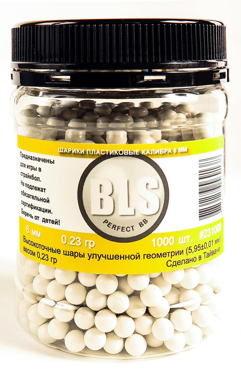 Шарики для страйкбола BLS, пластиковые, 0,23 г, 1000 шт