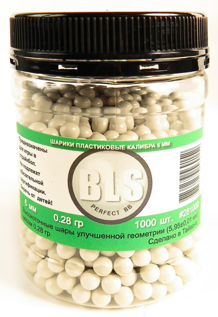 Шарики для страйкбола BLS, пластиковые, 0,28 г, 1000 шт
