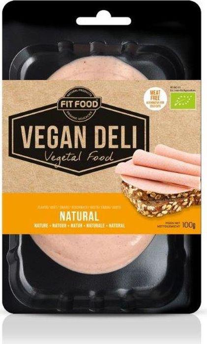 FitFood Vegan Deli Веганская нарезка Natural со вкусом колбасы, 100 г