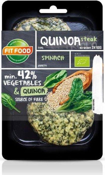 FitFood Стейк вегетарианский из киноа со шпинатом Spinach, 150 г