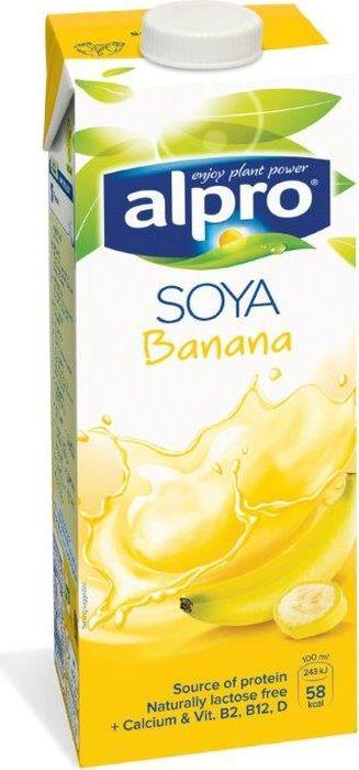 Alpro Напиток Соево-Банановый обогащенный кальцием и витаминами, 1 л соярус напиток соевый сливочный 0 93