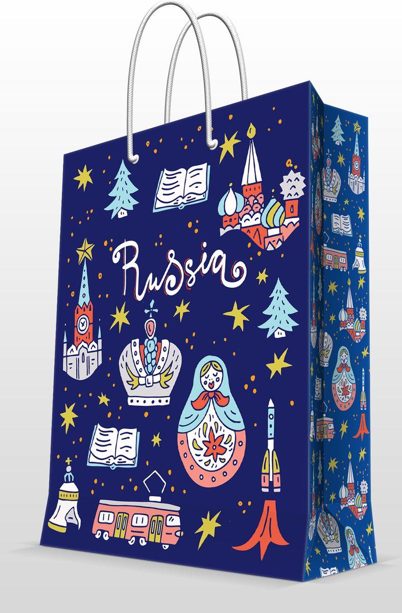Пакет бумажный Magic Home Московские мотивы, 26 х 32 см77271Бумажный пакет для сувенирной продукции - это стильный и практичный вариант упаковки подарка. Авторский дизайн, красочное изображение, тематический рисунок - все слагаемые оригинального оформления подарка. Окружите близких людей вниманием и заботой, вручив презент в нарядном, праздничном оформлении. Пакет с ламинацией изготовлен из плотной бумаги. Для удобства переноски имеются две веревочные ручки. Дно и верхний край укреплены картоном. Красивый подарочный пакет придаст дополнительный запоминающийся эффект от подарка или покупки.
