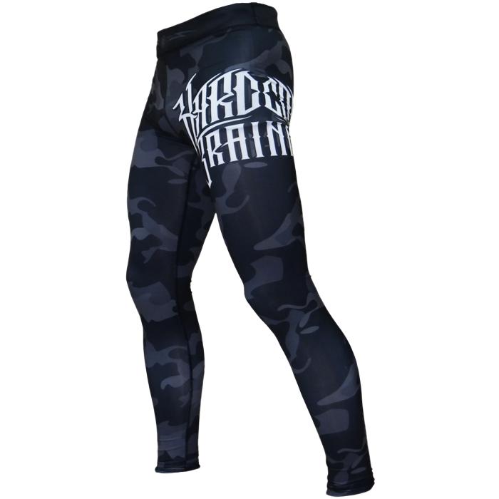 Тайтсы мужские Hardcore Training Night Camo, цвет: черный. hctpan014. Размер M (50) цена
