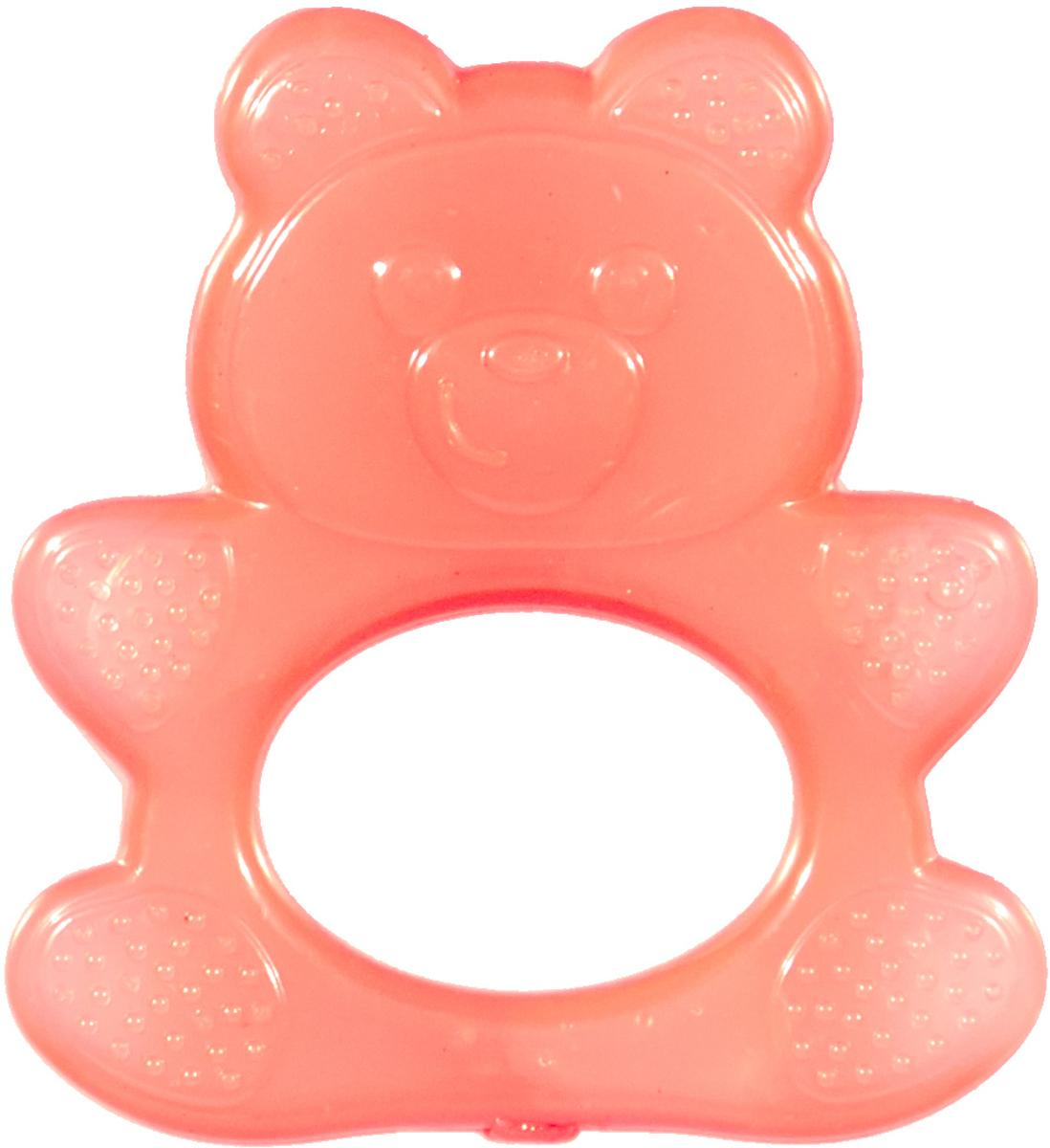 Пластмастер Прорезыватель охлаждающий Мишка цвет коралловый