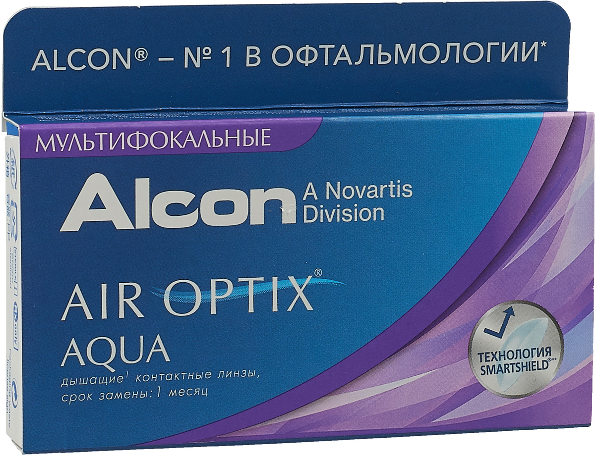 Alcon-CIBA Vision контактные линзы Air Optix Aqua Multifocal (3шт / 8.6 / 14.2 / +1.75 / Med)