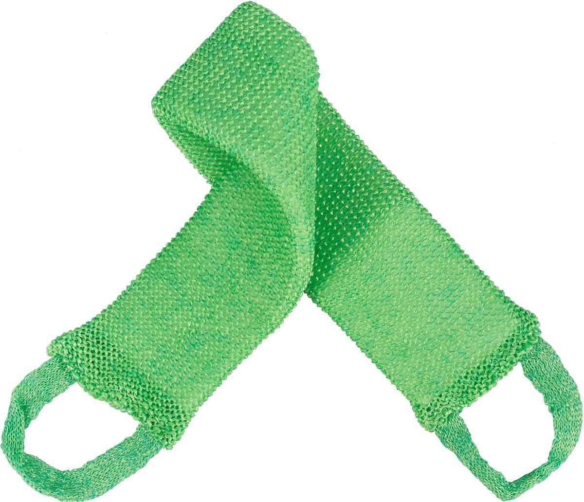 Мочалка массажная Eva Макси, цвет: зеленый, 70 см х 11 см мочалка eva овал цвет голубой 14 см х 18 см