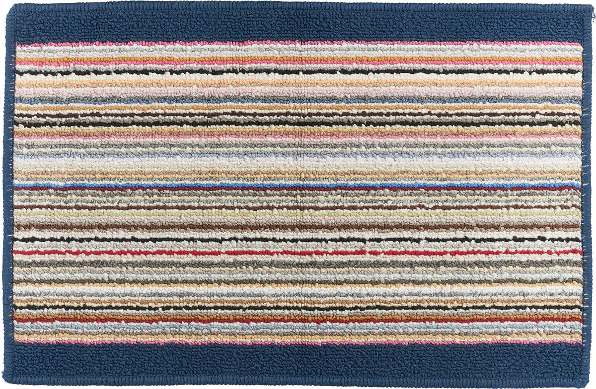 Коврик для ванной Vortex Baden, цвет: синий, белый, красный, 38 х 58 см. 21078 коврик для ванной 50x50 loks цвет синий
