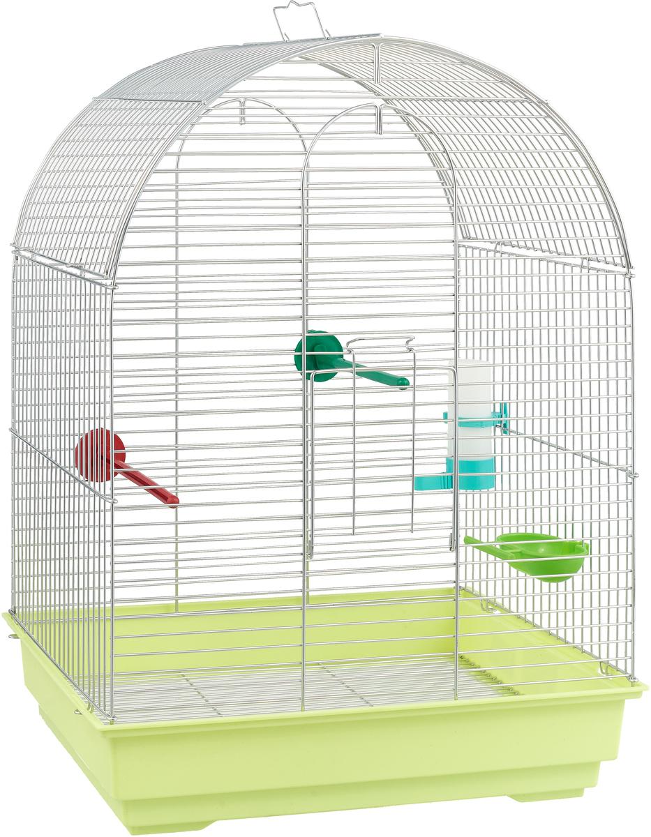 Клетка для птиц Велес Lusy, разборная, цвет: салатовый, 30 х 42 х 58 см