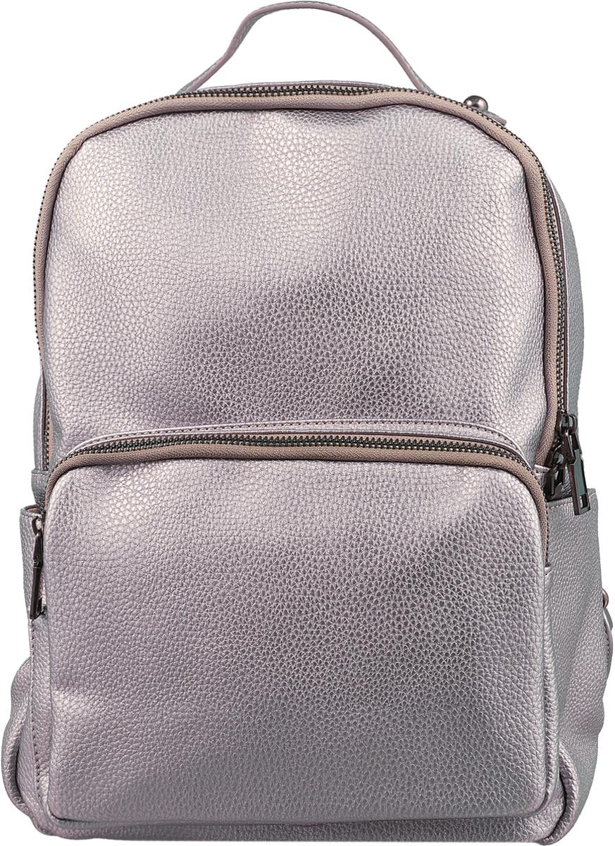 Рюкзак женский OrsOro, цвет: серебристый, 25 x 30 x 13 см. DS-862/3 цена и фото