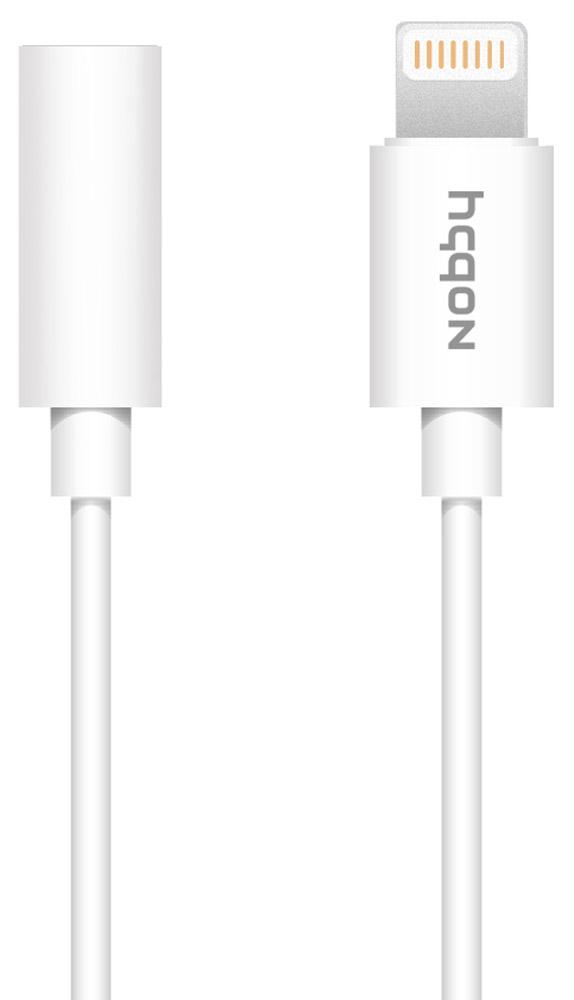 Nobby Connect 001-001, White адаптер Lightning-jack 3.5 mm (0,11 м) bluetooth a2dp музыка приемник аудио адаптер для ipod iphone 30pin dock спикера white