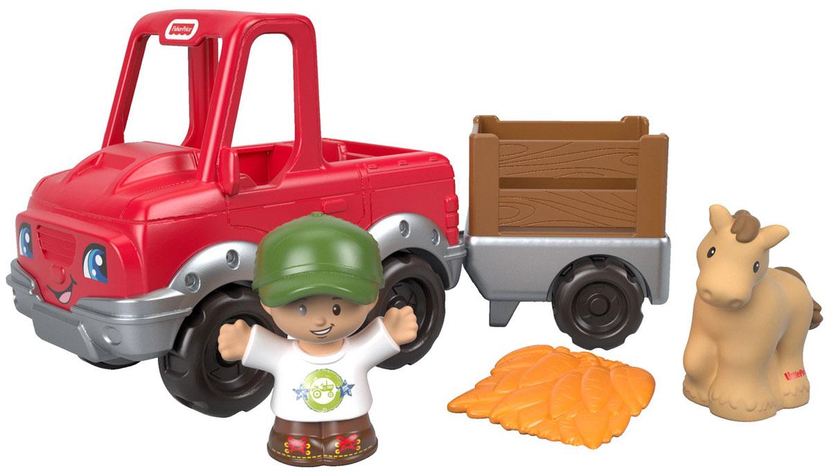 Little People Машинка с прицепом трактор с прицепом св ход 36см dickie