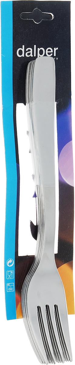 Набор столовых вилок Dalper Отель, 6 штO6662Компания Dalper - известный производитель качественной посуды и столовых приборов из Португалии.Набор столовых вилок «Отель» состоит из 6-ти предметов, выполненных из высококачественной нержавеющей стали.При взаимодействии с пищевыми продуктами нержавеющая сталь не образует соединений, вредных для организма человека. Посуда из нержавеющей стали наиболее востребована, так как помимо высоких эксплуатационных характеристик отличается привлекательным дизайном. Набор столовых вилок займет достойное место среди аксессуаров на кухне.