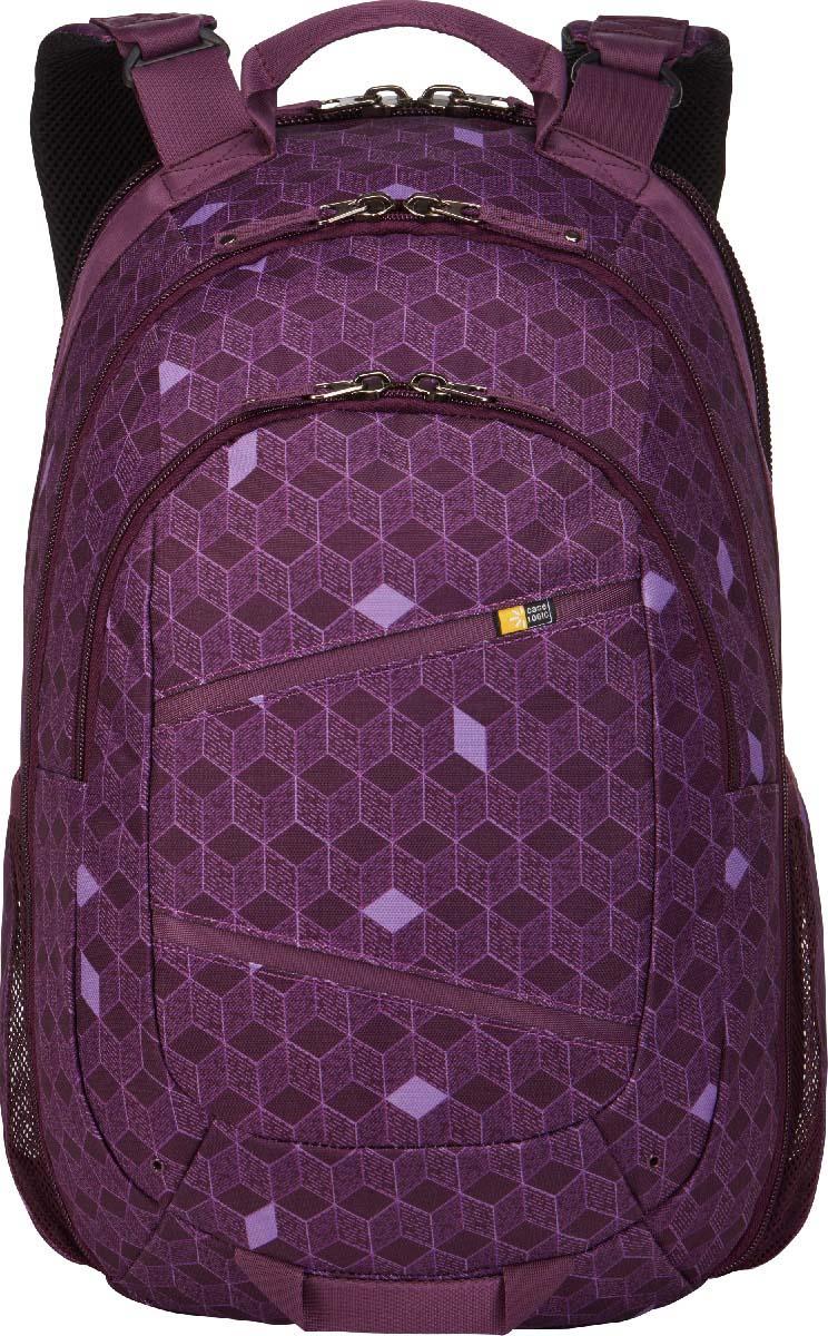 Case Logic Berkeley II Purple, рюкзак для ноутбука 15,6BPCA-315 PURPLECUBESПросторный многофункциональный рюкзак, выполненный в ярких красках, обеспечит Вас всеми необходимыми в течение дня вещами и не оставит без внимания окружающих.Специальное отделение для ноутбука 15,6 и отдельный карман для планшета; Потайной карман на задней панели для безопасного хранения денег и документов; Асимметричная панель-органайзер с просторным футляром обеспечит сохранность электронного оборудования разного размера, школьные или офисные принадлежности; Открытие основного отделения по типу чемодана обеспечивает максимальный обзор при сборах и легкий доступ к вещам; Регулируемые наплечные ремни эргономичной формы; Крупные молнии обеспечивают легкий доступ и достаточно широки для того, чтобы повесить на них дополнительный замок; Съемный настраиваемый нагрудный ремень обеспечивает дополнительную поддержку при перевозке тяжелых предметов; Сетчатые боковые карманы предназначены для бутылок с водой; Прочная наружная ткань сохранит вещи от любых погодных катаклизмов; Яркий, стильный дизайн обеспечит Вам внимание окружающих.