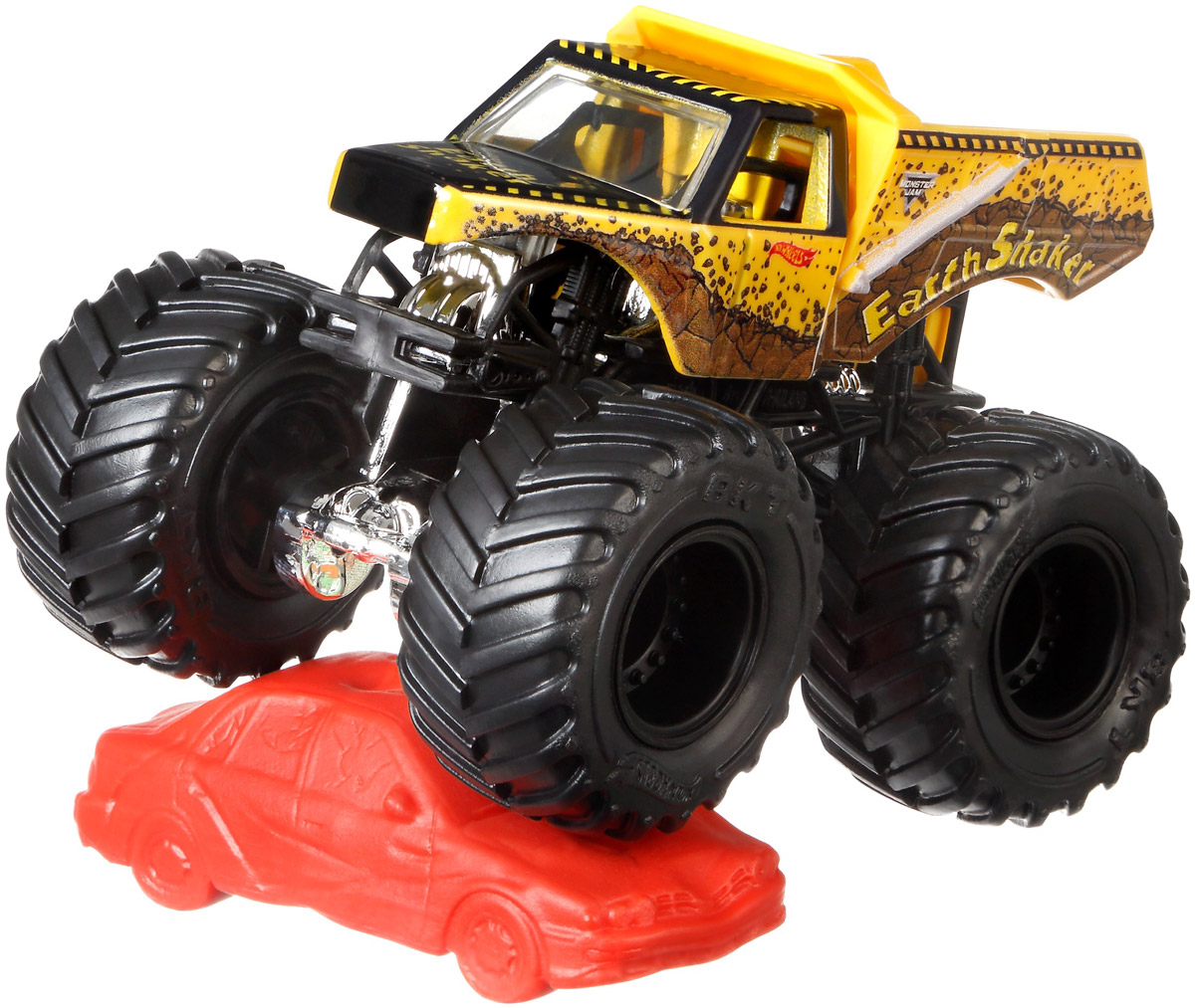 Hot Wheels Monster Jam Трековая машинка Earth Shaker mattel машинка hot wheels monster jam бэтмен
