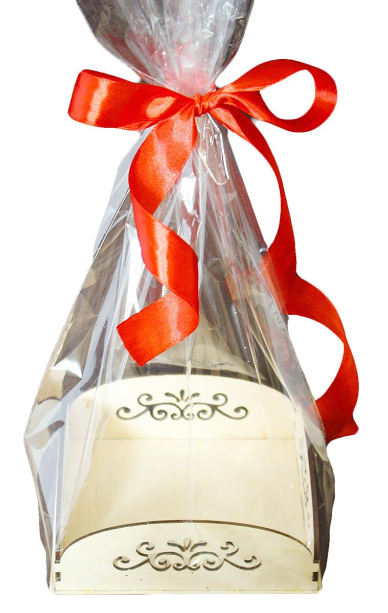 Пакет подарочный Вензеля, цвет: прозрачный, 14 х 14 х 5 см. 1188642 белорусская косметика склады где можно и цены