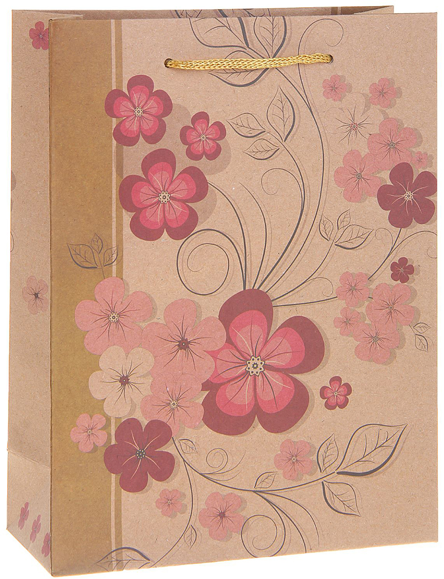 Пакет подарочный Весенние цветы, цвет: мультиколор, 15 х 6 х 20 см. 12130641213064Любой подарок начинается с упаковки. Что может быть трогательнее и волшебнее, чем ритуал разворачивания полученного презента. И именно оригинальная, со вкусом выбранная упаковка выделит ваш подарок из массы других. Она продемонстрирует самые теплые чувства к виновнику торжества и создаст сказочную атмосферу праздника. Пакет-крафт Весенние цветы - это то, что вы искали.