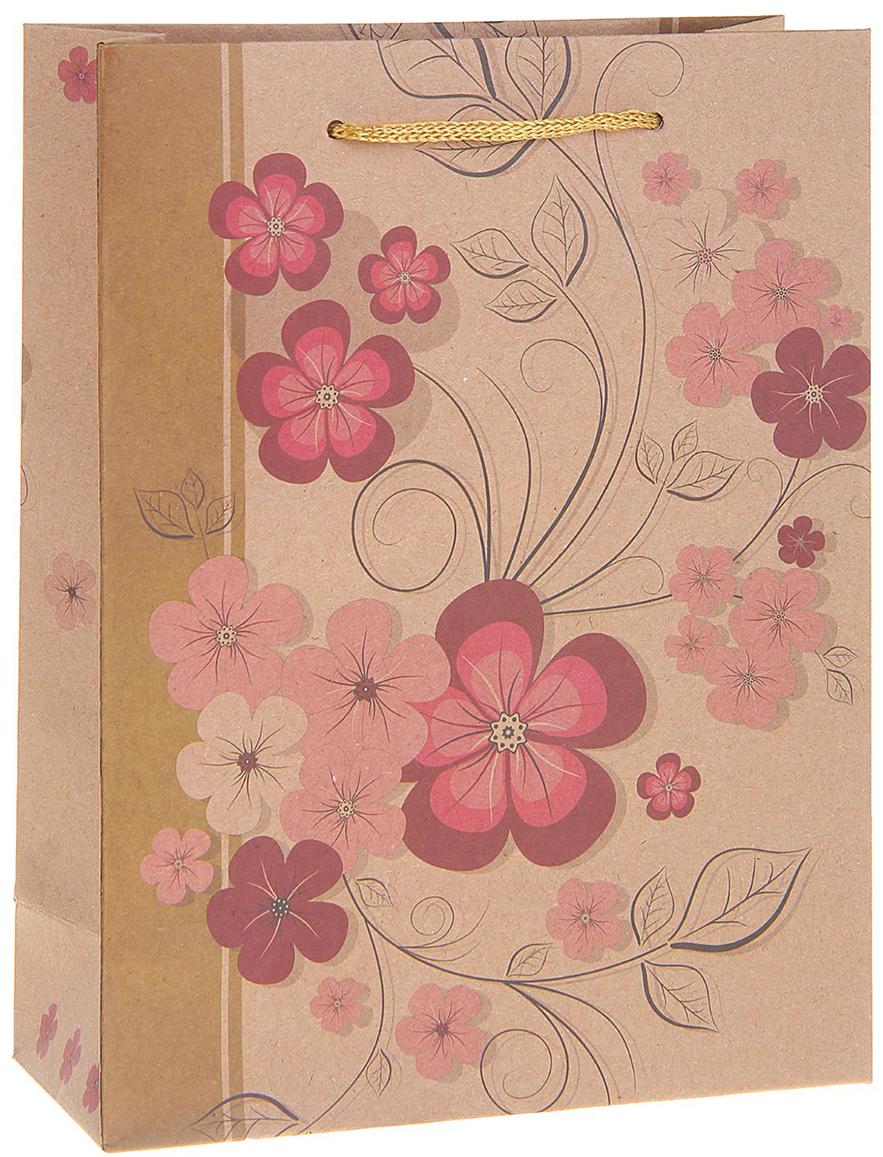 Пакет подарочный Весенние цветы, цвет: мультиколор, 19 х 8 х 25 см. 12130851213085Любой подарок начинается с упаковки. Что может быть трогательнее и волшебнее, чем ритуал разворачивания полученного презента. И именно оригинальная, со вкусом выбранная упаковка выделит ваш подарок из массы других. Она продемонстрирует самые теплые чувства к виновнику торжества и создаст сказочную атмосферу праздника. Пакет-крафт Весенние цветы - это то, что вы искали.