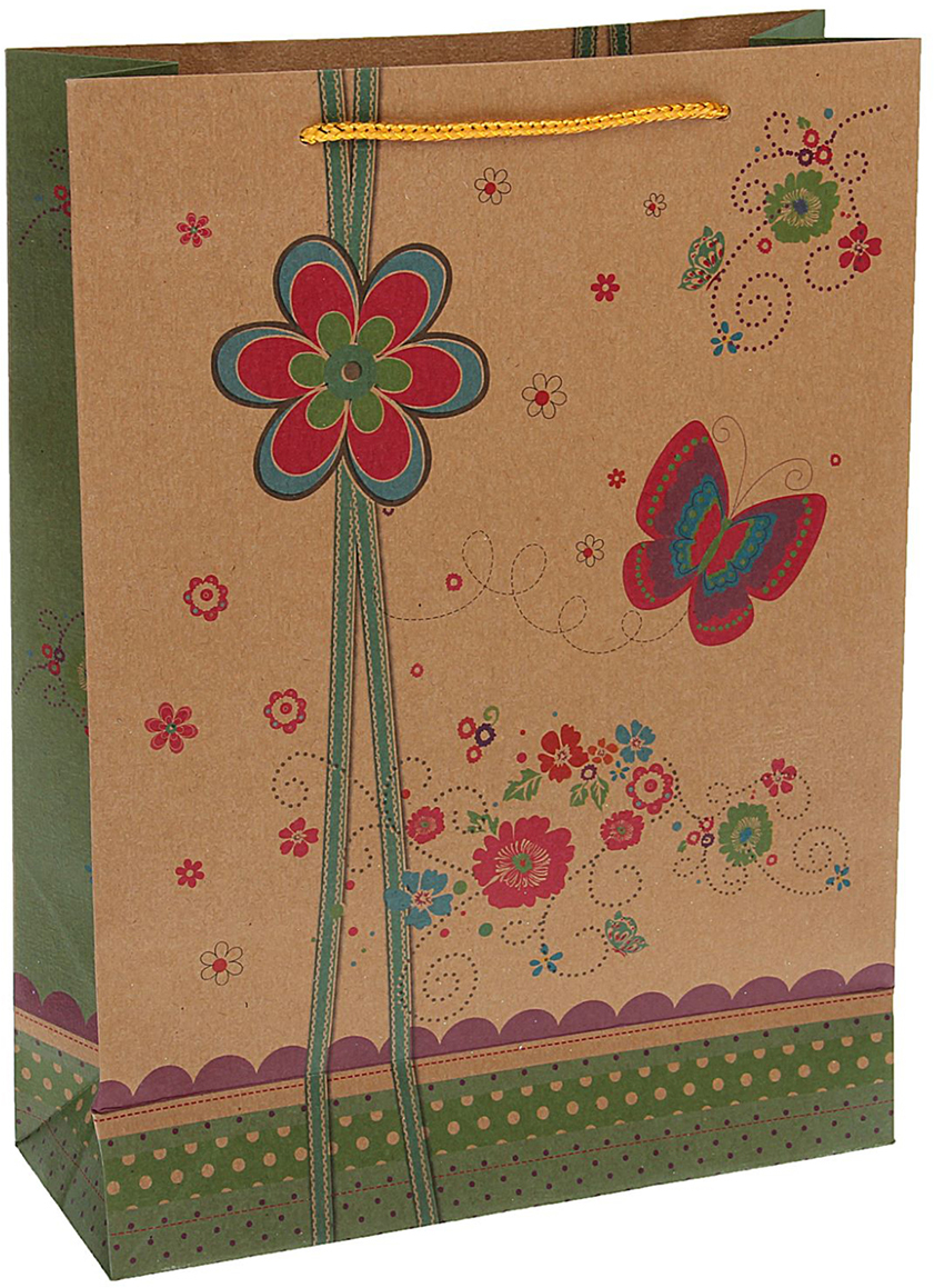 Пакет подарочный Бабочки, цвет: мультиколор, 24,5 х 19 х 8 см. 15372761537276Любой подарок начинается с упаковки. Что может быть трогательнее и волшебнее, чем ритуал разворачивания полученного презента. И именно оригинальная, со вкусом выбранная упаковка выделит ваш подарок из массы других. Она продемонстрирует самые теплые чувства к виновнику торжества и создаст сказочную атмосферу праздника - это то, что вы искали.