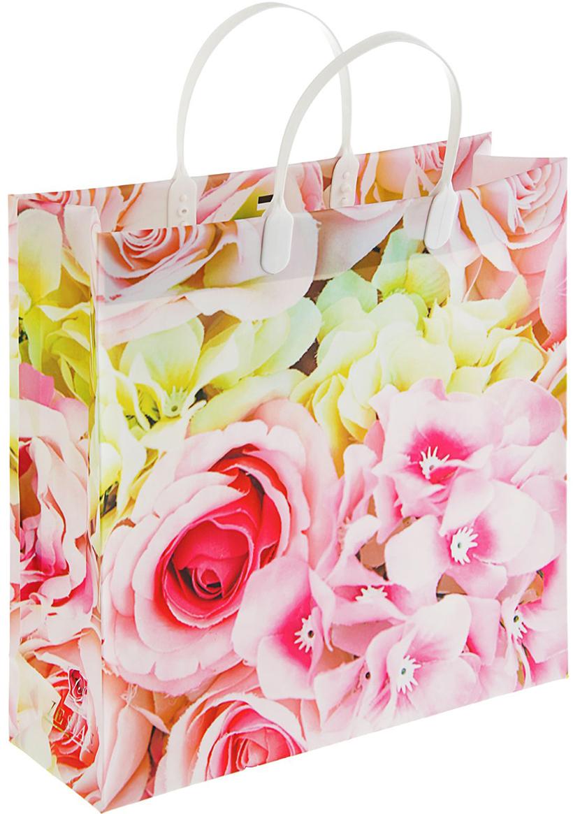 Пакет подарочный Вирджиния, цвет: мультиколор, 30 х 10 х 30 см. 2297064