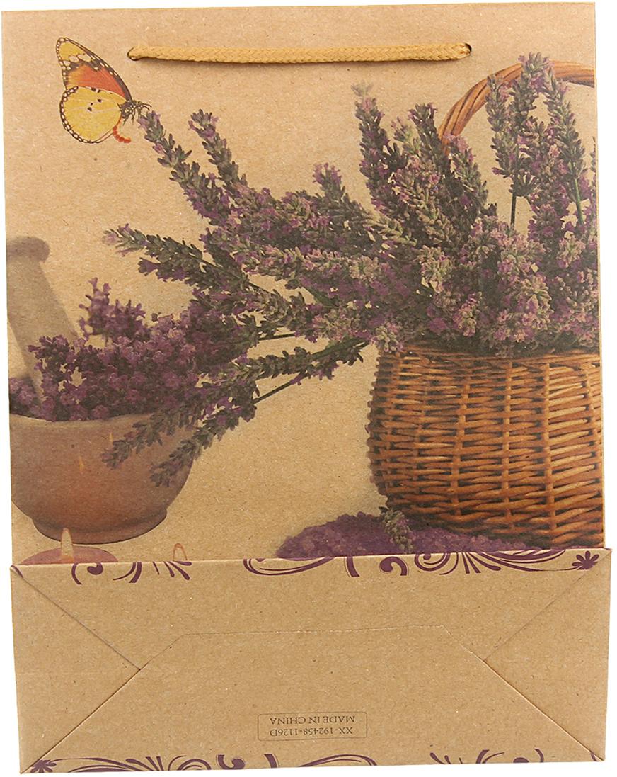 Пакет подарочный Букет из лаванды, цвет: мультиколор, 19 х 24 х 8 см. 24510222451022Любой подарок начинается с упаковки. Что может быть трогательнее и волшебнее, чем ритуал разворачивания полученного презента. И именно оригинальная, со вкусом выбранная упаковка выделит ваш подарок из массы других. Она продемонстрирует самые теплые чувства к виновнику торжества и создаст сказочную атмосферу праздника. Пакет-крафт Букет из лаванды - это то, что вы искали.
