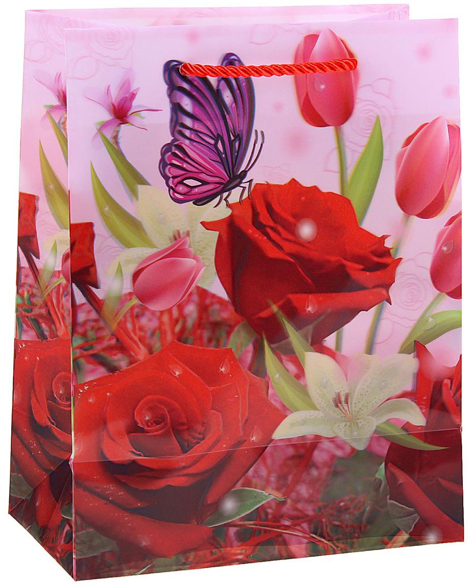 Пакет подарочный Букет цветов, 3D рисунок, цвет: розовый, 8 х 18 х 23 см. 822829822829Любой подарок начинается с упаковки. Что может быть трогательнее и волшебнее, чем ритуал разворачивания полученного презента. И именно оригинальная, со вкусом выбранная упаковка выделит ваш подарок из массы других. Она продемонстрирует самые теплые чувства к виновнику торжества и создаст сказочную атмосферу праздника. Пакет пластиковый, 3D рисунок Букет цветов - это то, что вы искали.