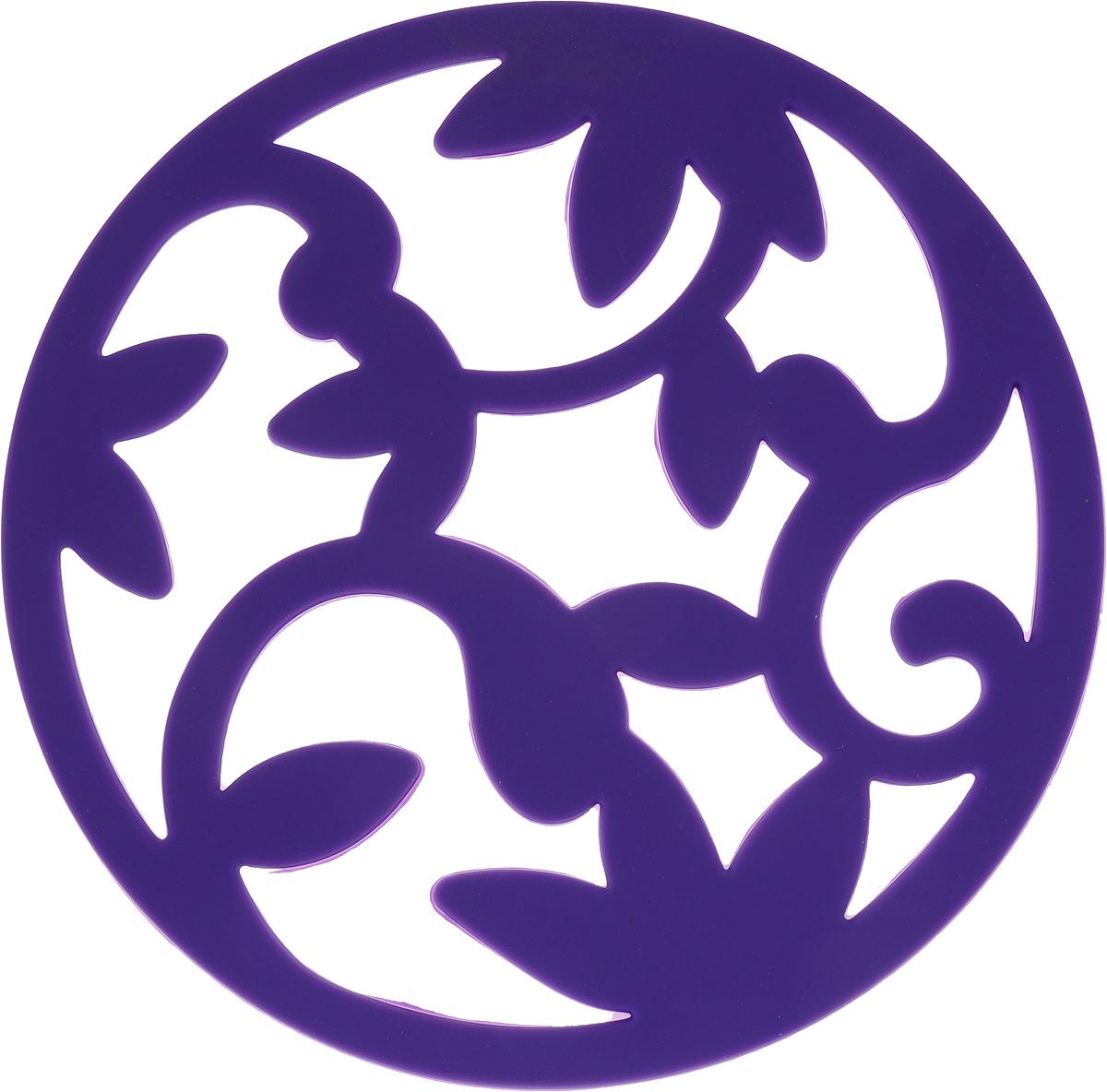 Подставка под горячее Доляна Флора, цвет: фиолетовый подставка под горячее stilars подставка под горячее
