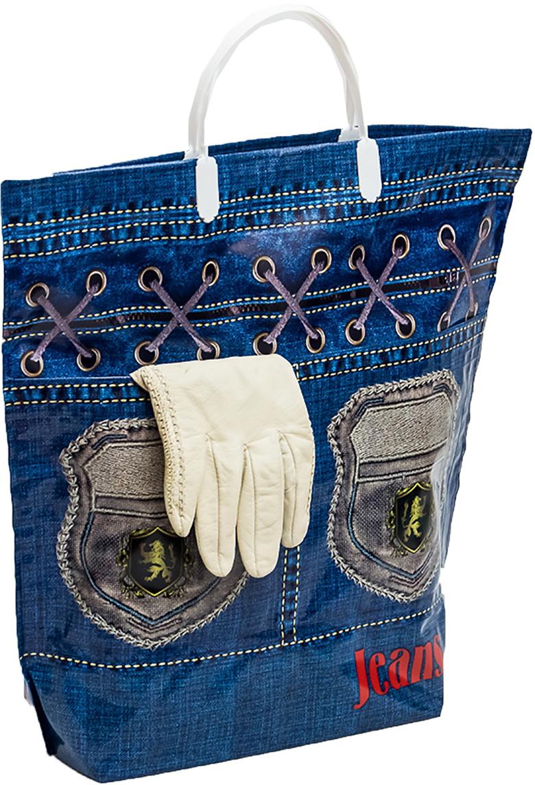 Пакет подарочный Джинс стайл, цвет: синий, 37 х 37 см. 11379591137959Эксклюзивный товар 2 в 1. Он сочетает в себе пластиковую сумку для бытовых и хозяйственных нужд и подарочный пакет универсального назначения. Новинка – пакет с внутренними и внешними карманами для мелочей, которые всегда должны быть под рукой. Удобные ручки с застежками запирают сумку-пакет. Максимальная рекомендованная нагрузка - 20 кг. Окантовка по краям – сохраняет форму сумки. Дно не имеет швов, которые могу разойтись. Мягкая толстая пленка используемая для изготовления пакета плотностью 150/160 микрон придает долговечность (пакет не стирается, не пачкается, не промокает) и обеспечивает приятные тактильные ощущения. Специальный состав пленки придает прочность швам, сохраняет глянец и нестираемость рисунка. Жестко дно защищено от влаги и разрывов.