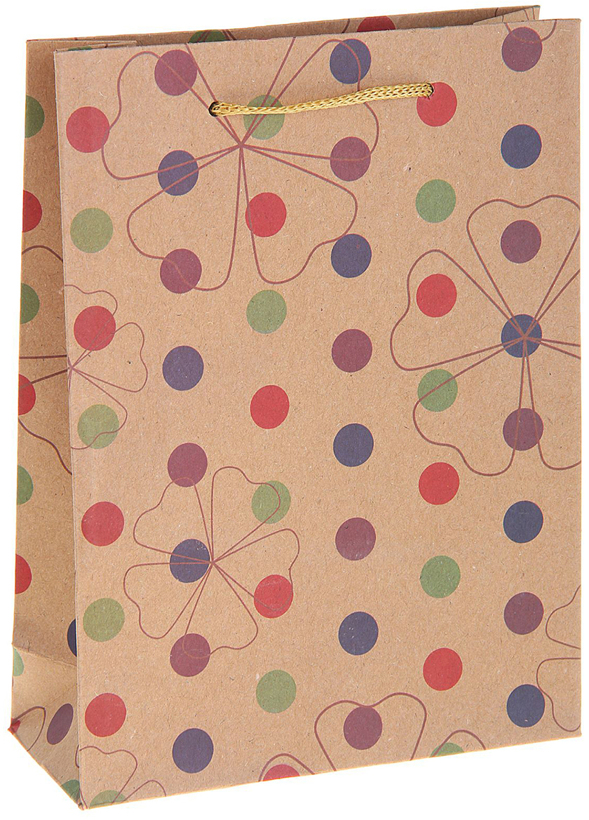 Пакет подарочный Горох, цвет: мультиколор, 19 х 8 х 25 см. 12130721213072Любой подарок начинается с упаковки. Что может быть трогательнее и волшебнее, чем ритуал разворачивания полученного презента. И именно оригинальная, со вкусом выбранная упаковка выделит ваш подарок из массы других. Она продемонстрирует самые теплые чувства к виновнику торжества и создаст сказочную атмосферу праздника. Пакет-крафт Горох - это то, что вы искали.