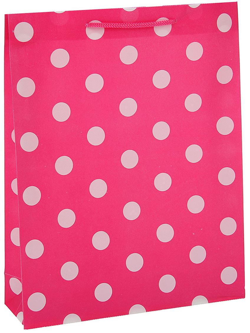 Пакет подарочный Горох, цвет: розовый, 18 х 22 х 7,5 см. 15586231558623Любой подарок начинается с упаковки. Что может быть трогательнее и волшебнее, чем ритуал разворачивания полученного презента. И именно оригинальная, со вкусом выбранная упаковка выделит ваш подарок из массы других. Она продемонстрирует самые теплые чувства к виновнику торжества и создаст сказочную атмосферу праздника - это то, что вы искали.