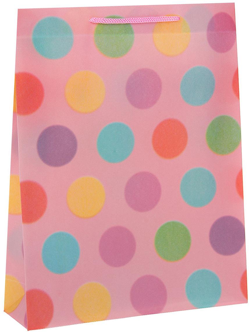 Пакет подарочный Горошина, цвет: розовый, 23 х 27 х 8 см. 15586671558667Любой подарок начинается с упаковки. Что может быть трогательнее и волшебнее, чем ритуал разворачивания полученного презента. И именно оригинальная, со вкусом выбранная упаковка выделит ваш подарок из массы других. Она продемонстрирует самые теплые чувства к виновнику торжества и создаст сказочную атмосферу праздника - это то, что вы искали.