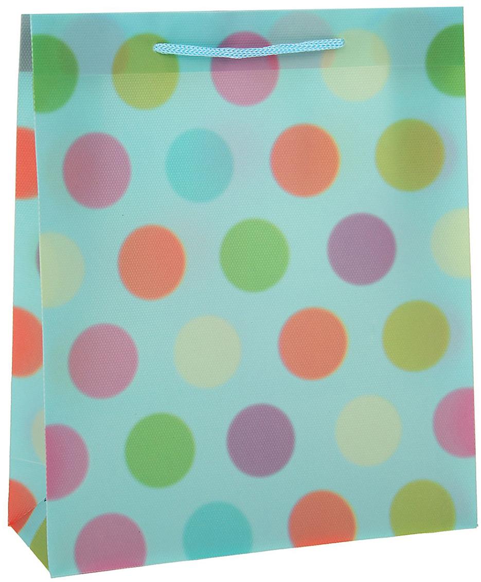 Пакет подарочный Горошина, цвет: синий, 23 х 27 х 8 см. 15586701558670Любой подарок начинается с упаковки. Что может быть трогательнее и волшебнее, чем ритуал разворачивания полученного презента. И именно оригинальная, со вкусом выбранная упаковка выделит ваш подарок из массы других. Она продемонстрирует самые теплые чувства к виновнику торжества и создаст сказочную атмосферу праздника - это то, что вы искали.