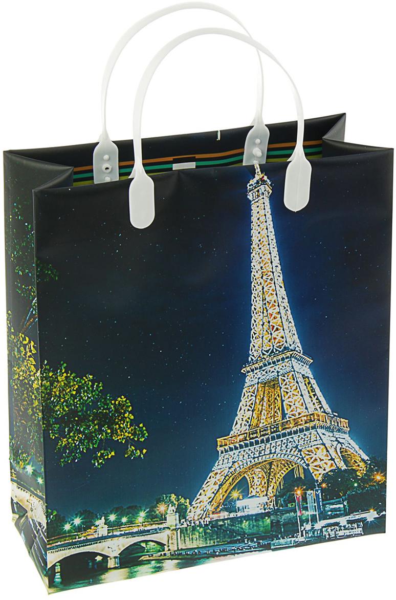 """Пакет подарочный """"Город мечты"""", цвет: синий, 26 х 23 см. 2099695"""