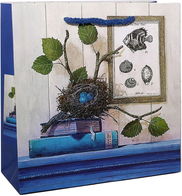 Пакет подарочный Гнездо, цвет: синий, 5 х 15 х 8 см. 24782702478270Любой подарок начинается с упаковки. Что может быть трогательнее и волшебнее, чем ритуал разворачивания полученного презента. И именно оригинальная, со вкусом выбранная упаковка выделит ваш подарок из массы других. Она продемонстрирует самые теплые чувства к виновнику торжества и создаст сказочную атмосферу праздника. Пакет подарочный Гнездо - это то, что вы искали.