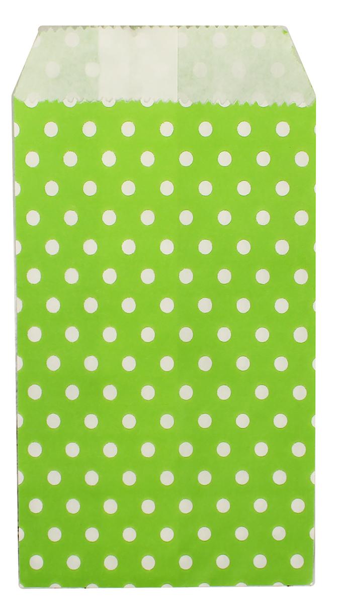 Пакет подарочный Горошек, цвет: зеленый, 8 х 15 х 3 см. 26543272654327Любой подарок начинается с упаковки. Что может быть трогательнее и волшебнее, чем ритуал разворачивания полученного презента. И именно оригинальная, со вкусом выбранная упаковка выделит ваш подарок из массы других. Она продемонстрирует самые теплые чувства к виновнику торжества и создаст сказочную атмосферу праздника. Пакет фасовочный Горошек на зеленом - это то, что вы искали.