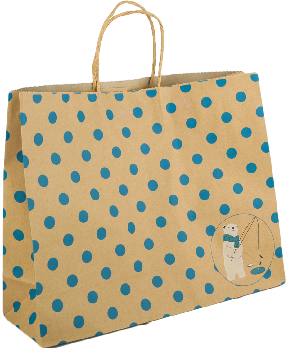 Пакет подарочный Горошек, цвет: коричневый, 30 х 38,5 х 12 см. 27697642769764Любой подарок начинается с упаковки. Что может быть трогательнее и волшебнее, чем ритуал разворачивания полученного презента. И именно оригинальная, со вкусом выбранная упаковка выделит ваш подарок из массы других. Она продемонстрирует самые теплые чувства к виновнику торжества и создаст сказочную атмосферу праздника. Пакет-крафт Синий горошек - это то, что вы искали.