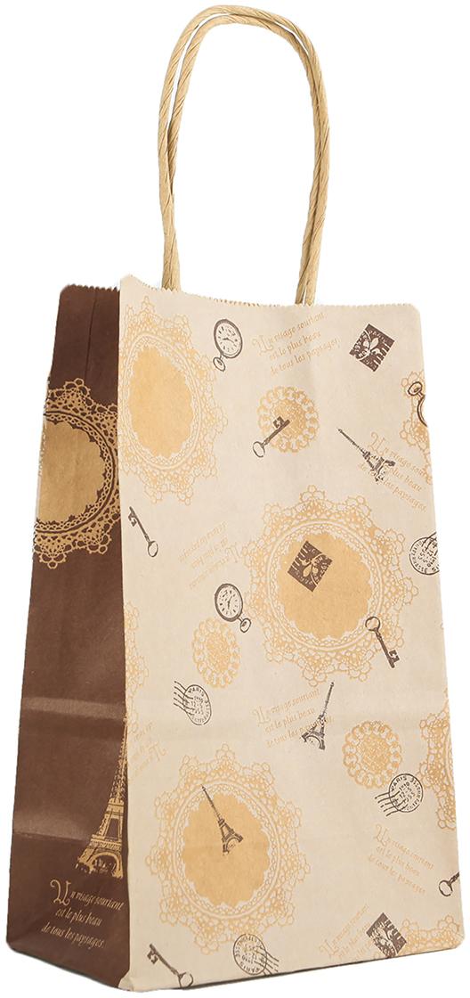 Пакет подарочный Вояж, цвет: коричневый, 22 х 13,5 х 9 см. 27697682769768Любой подарок начинается с упаковки. Что может быть трогательнее и волшебнее, чем ритуал разворачивания полученного презента. И именно оригинальная, со вкусом выбранная упаковка выделит ваш подарок из массы других. Она продемонстрирует самые теплые чувства к виновнику торжества и создаст сказочную атмосферу праздника. Пакет-крафт Вояж - это то, что вы искали.