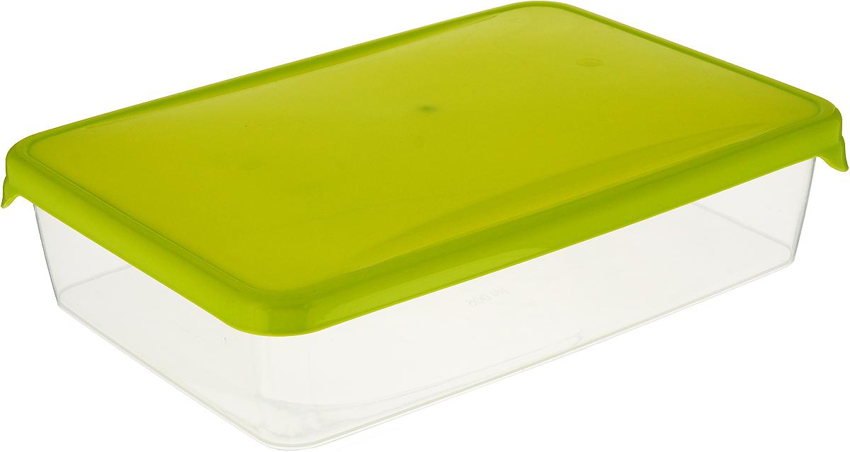 """Емкость для продуктов Giaretti """"Браво"""", цвет: прозрачный, салатовый, 0,9 л"""