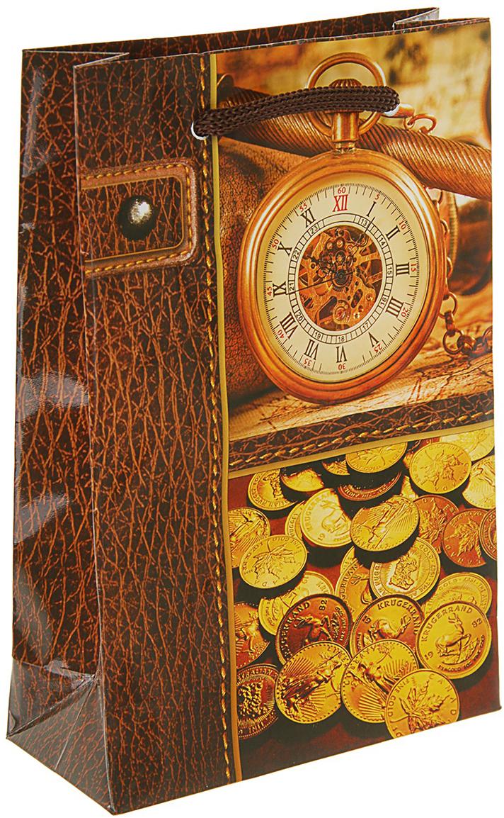Пакет подарочный Время деньги, цвет: мультиколор, 11,5 х 5 х 17,5 см. 27929892792989Любой подарок начинается с упаковки. Что может быть трогательнее и волшебнее, чем ритуал разворачивания полученного презента. И именно оригинальная, со вкусом выбранная упаковка выделит ваш подарок из массы других. Она продемонстрирует самые теплые чувства к виновнику торжества и создаст сказочную атмосферу праздника. Пакет подарочный Время деньги - это то, что вы искали.
