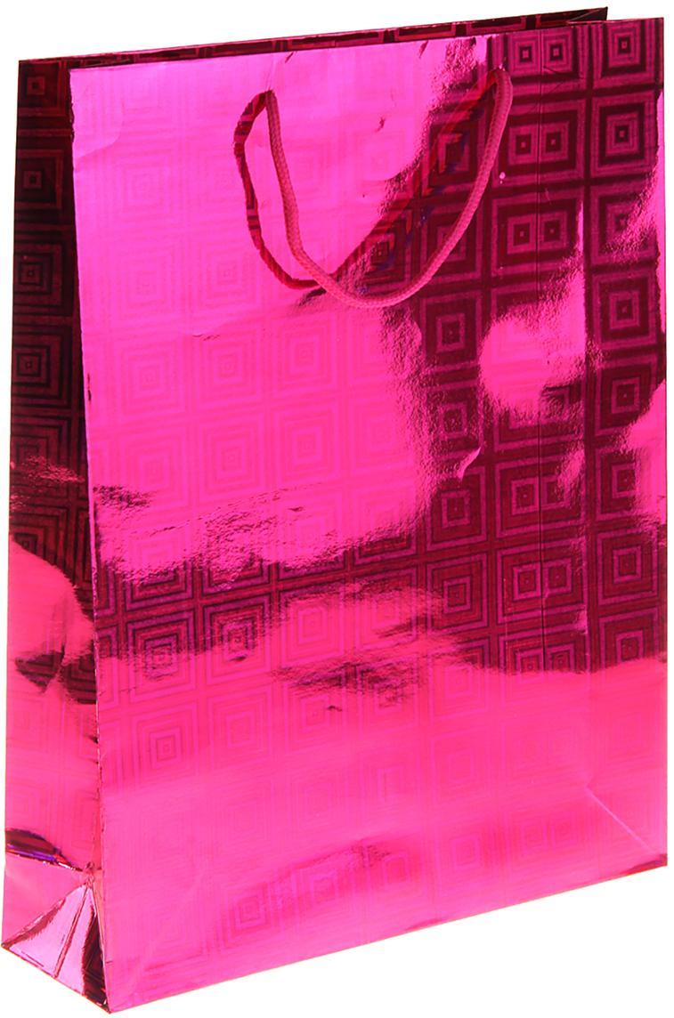 Пакет подарочный Геометрия, голография, цвет: розовый, 9 х 29 х 38 см. 822529822529Любой подарок начинается с упаковки. Что может быть трогательнее и волшебнее, чем ритуал разворачивания полученного презента. И именно оригинальная, со вкусом выбранная упаковка выделит ваш подарок из массы других. Она продемонстрирует самые теплые чувства к виновнику торжества и создаст сказочную атмосферу праздника. Пакет голографический Геометрия - это то, что вы искали.