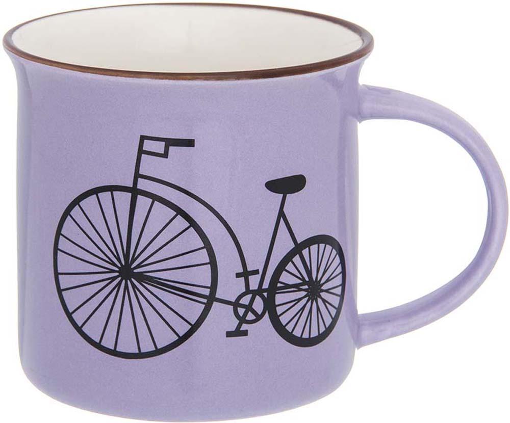 Кружка Elan Gallery Велосипед, цвет: сиреневый, 210 мл кружка кофе 350 мл nuova r2s s p a кружка кофе 350 мл