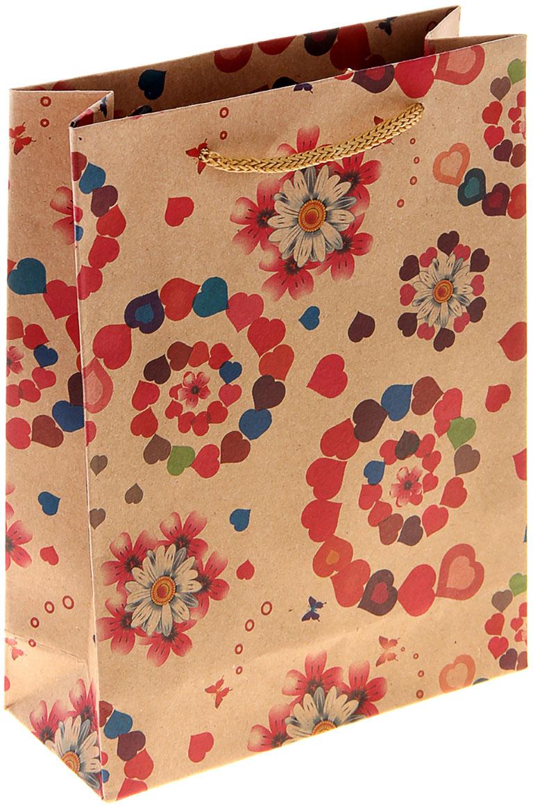 Пакет подарочный Любовные выкрутасы, цвет: мультиколор, 11 х 6 х 14 см. 10243091024309Любой подарок начинается с упаковки. Что может быть трогательнее и волшебнее, чем ритуал разворачивания полученного презента. И именно оригинальная, со вкусом выбранная упаковка выделит ваш подарок из массы других. Она продемонстрирует самые теплые чувства к виновнику торжества и создаст сказочную атмосферу праздника. Пакет-крафт Любовные выкрутасы - это то, что вы искали.