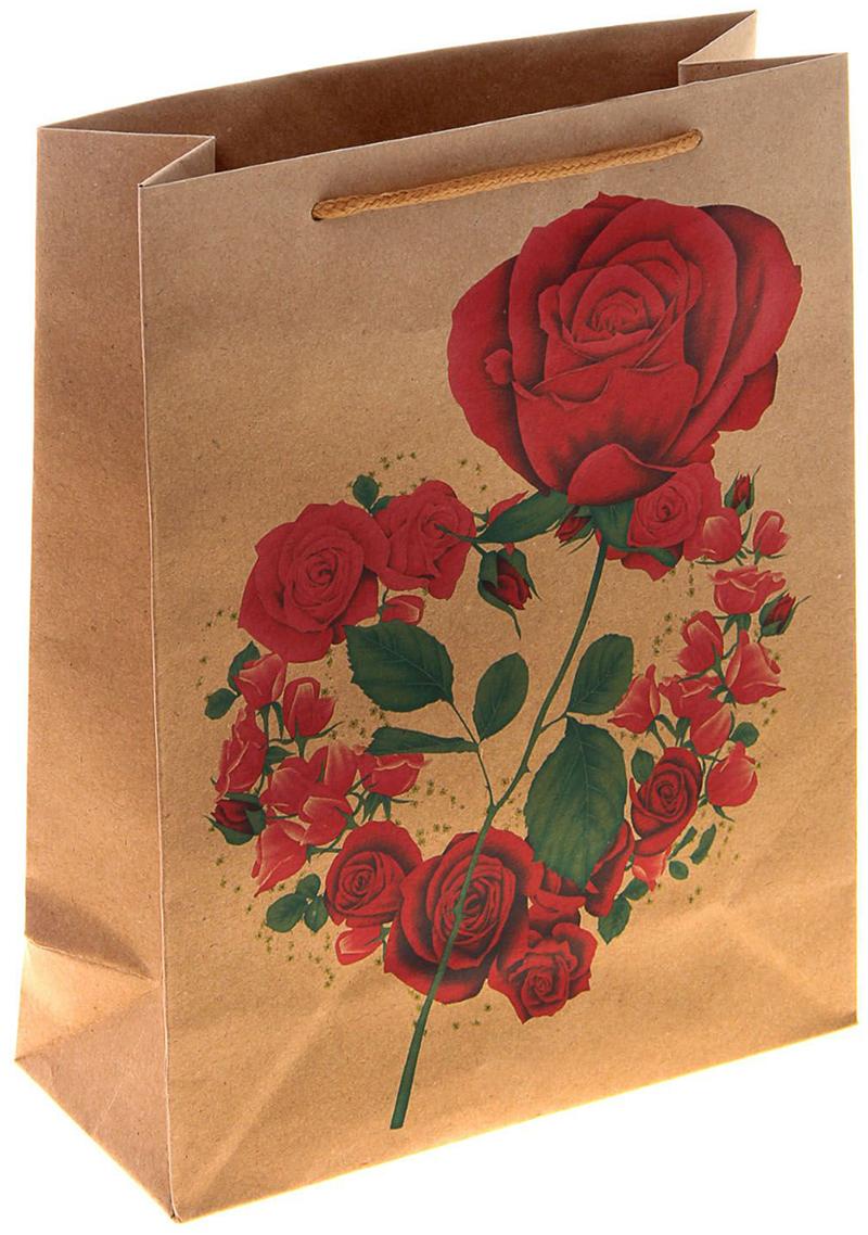 Пакет подарочный Роза в сердце, цвет: красный, 11,4 х 6 х 14 см. 10243111024311Любой подарок начинается с упаковки. Что может быть трогательнее и волшебнее, чем ритуал разворачивания полученного презента. И именно оригинальная, со вкусом выбранная упаковка выделит ваш подарок из массы других. Она продемонстрирует самые теплые чувства к виновнику торжества и создаст сказочную атмосферу праздника. Пакет-крафт Роза в сердце - это то, что вы искали.