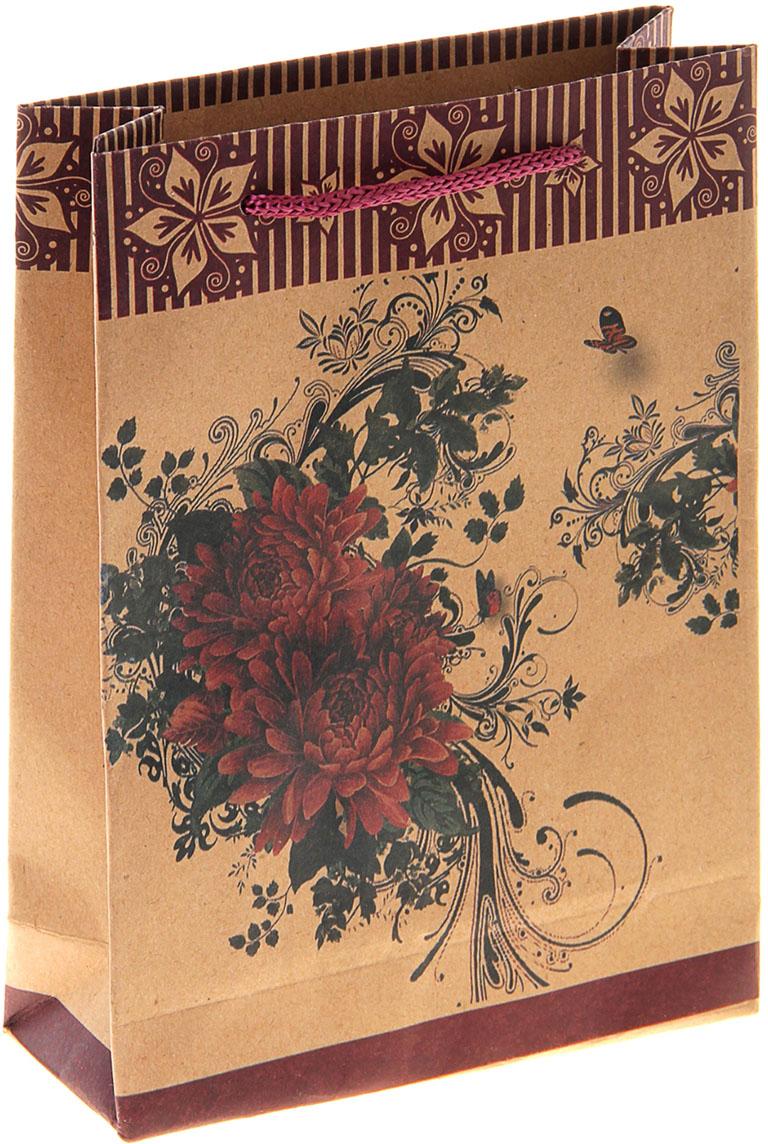 Пакет подарочный Распустившийся цветок, цвет: коричневый, 15 х 6 х 20 см. 10243181024318Любой подарок начинается с упаковки. Что может быть трогательнее и волшебнее, чем ритуал разворачивания полученного презента. И именно оригинальная, со вкусом выбранная упаковка выделит ваш подарок из массы других. Она продемонстрирует самые теплые чувства к виновнику торжества и создаст сказочную атмосферу праздника. Пакет-крафт Распустившийся цветок - это то, что вы искали.