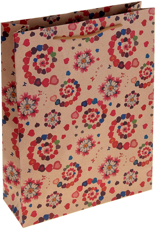 Пакет подарочный Любовные выкрутасы, цвет: мультиколор, 31 х 9,5 х 42 см. 10243591024359Любой подарок начинается с упаковки. Что может быть трогательнее и волшебнее, чем ритуал разворачивания полученного презента. И именно оригинальная, со вкусом выбранная упаковка выделит ваш подарок из массы других. Она продемонстрирует самые теплые чувства к виновнику торжества и создаст сказочную атмосферу праздника. Пакет-крафт Любовные выкрутасы - это то, что вы искали.