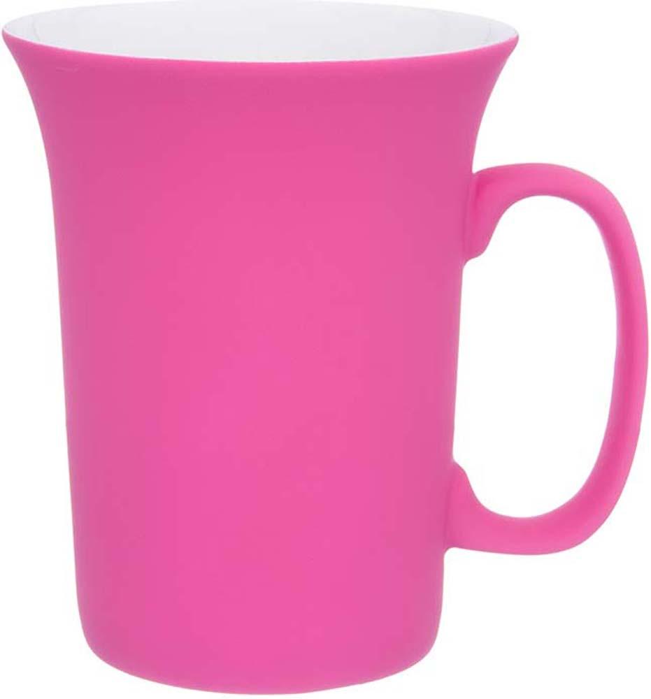 Кружка Elan Gallery Ярко-розовая, с силиконовым покрытием, 300 мл кружки elan gallery кружка ветка сирени