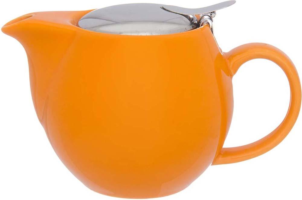 Чайник заварочный Elan Gallery, с ситом, цвет: оранжевый, 500 мл630022Изящный вместительный чайник объемом 500 мл с удобной ручкой и широким носиком. Изделие имеет подарочную упаковку.
